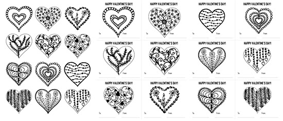 9400 Coloring Pages Valentines Day , Free HD Download