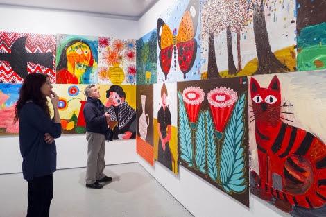 Pinturas de Antonio Ballester en la sala 'Paisaje, retrato, bodegón' de la exposición. | F. V. M.
