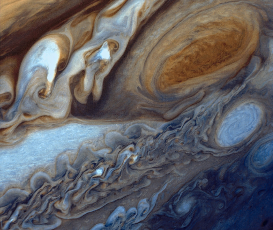 At about 89,000 miles in diameter, Jupiter could swallow 1,000 Earths. It is the largest planet in the solar system and perhaps the most majestic.