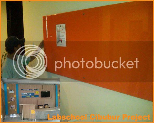 Glassboard 90x120cm, Background Orange.