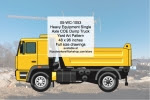 Heavy Equipment Single Axle Dump Truck Yard Art Woodworking Pattern - fee plans from WoodworkersWorkshop® Online Store - heavy equipment,single axle dump trucks,COE,yard art,painting wood crafts,scrollsawing patterns,drawings,plywood,plywoodworking plans,woodworkers projects,workshop blueprints