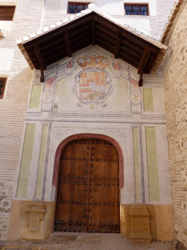 Restauración Monasterio Santa Isabel la Real, Albaicín, Granada. Puerta Reglar, restaurada.
