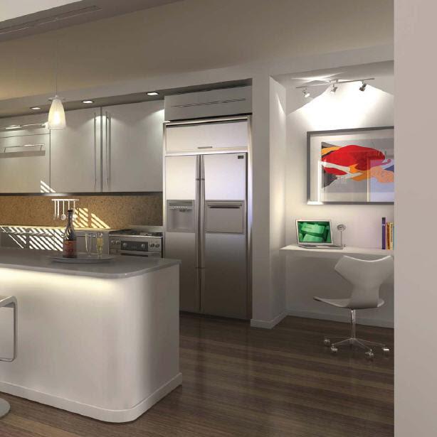 Interior Design Ideas Sunny Spring Condo Idees Contemporary Kitchen