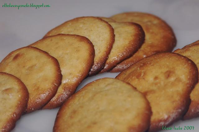 galletas naranja y ron