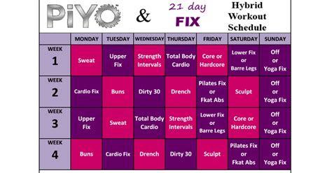 piyo  day fix hybridpdf beachbody  day fix workout