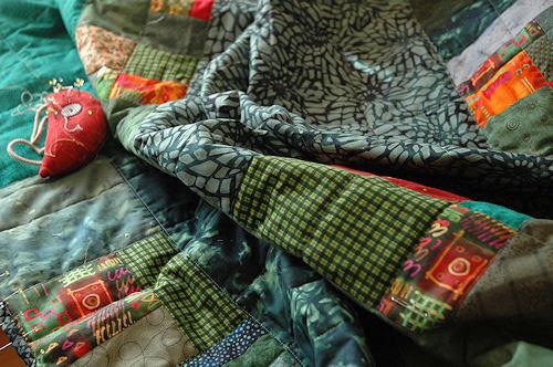 green quilt :: grønt teppe #1