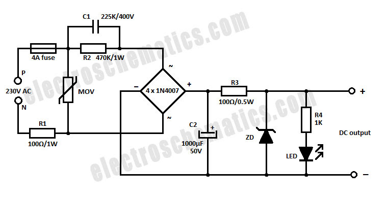 24vdc power supply circuit diagram