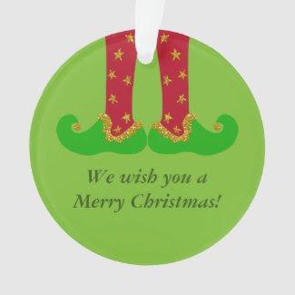 Elf Legs, Christmas, You Customize Ornament