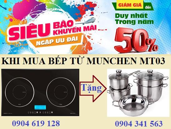 Giảm giá siêu khủng khi mua bếp từ Munchen MT03
