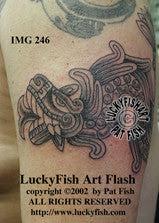Quetzalcoatl Mexican Tattoo Design Luckyfish Art