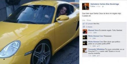 La imagen que publicó el político priista y que luego eliminó de Facebook.