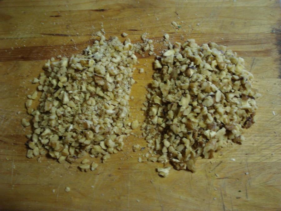 12 finely chopped walnuts
