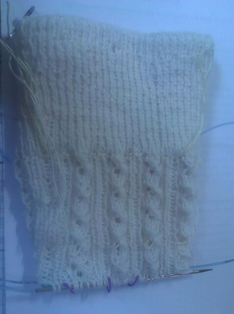 startt of lace pattern
