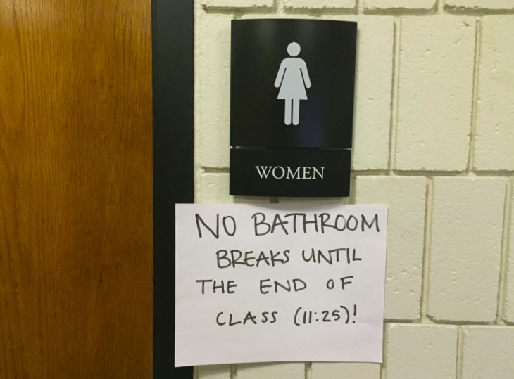 Two Sides One Issue Teachers Should Reform Their Bathroom