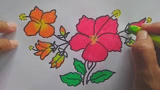 Sketsa Bunga Sepatu Kata Kata