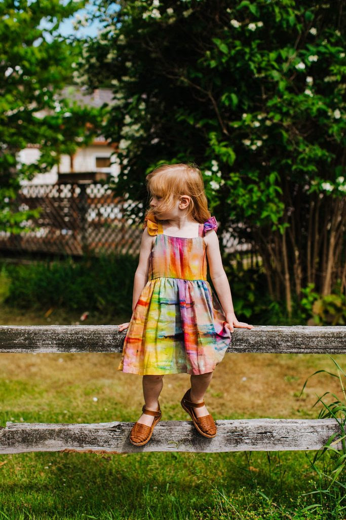 rainbow party theme dresses