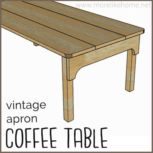 diy coffee table building plans vintage antique kitchen farmhouse table