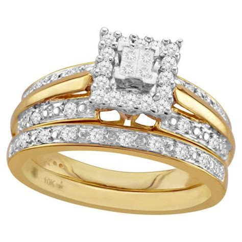 Yellow Gold Bridal Set   Stuff to Buy   Yellow engagement