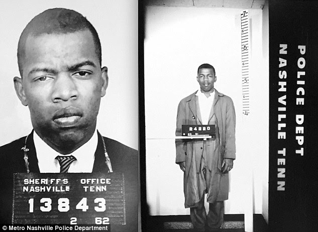 """Rather said:'One thing you cannot say about John Lewis is that he is """"all talk, talk, talk - no action or results."""" This man came within a hair's breath of dying after being beaten by Alabama State Troopers on a march across the Edmund Pettus Bridge in Selma. His expert organizing skills and moral clarity made the United States a far more just and equitable nation. And for all this to happen at the beginning of Martin Luther King weekend, of all times.'"""