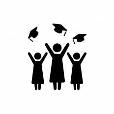 卒業式の大学生シルエット イラストの無料ダウンロードサイト