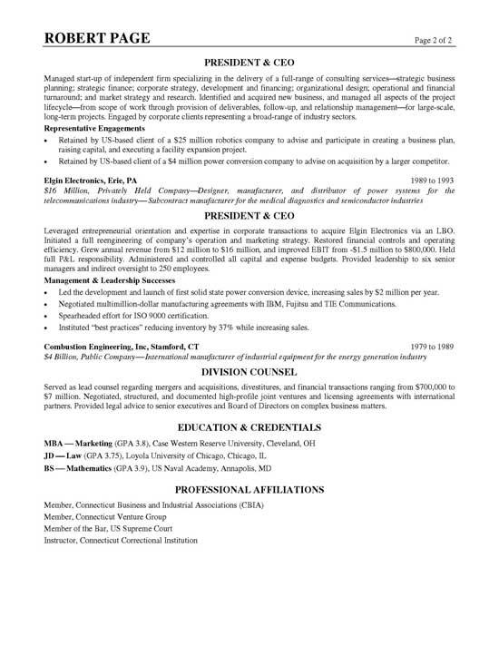 resume sample executive11b
