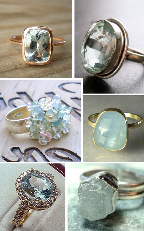 handmade aquamarine rings