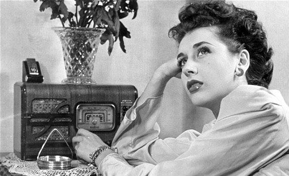 radio vintage woman