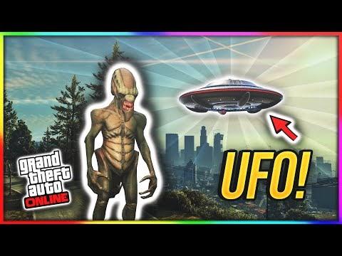 the NEW UFO in GTA Online!! (Halloween update UFO's?)