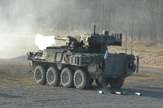 Uno de los vehículos que se podrían considerar un candidato a la luz del tanque es de ocho ruedas-Gun System Mobile M1128, un arma de 105 mm del tanque montado en un vehículo blindado Stryker luz hecha por General Dynamics Land Systems.