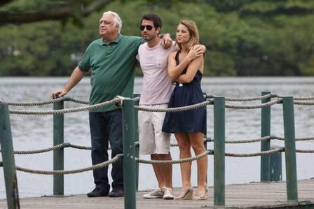 Paola Oliveira, Eriberto Leão e Antonio Fagundes