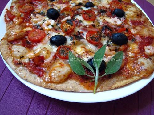 Cocinarte pizza integral con s samo adaptaci n de una receta de jamie oliver - Pizza mycook ...