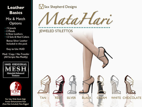 Mata Hari Jeweled Stilettos - Leather Basics Pack