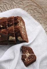 Cake variegato al cacao e vaniglia light