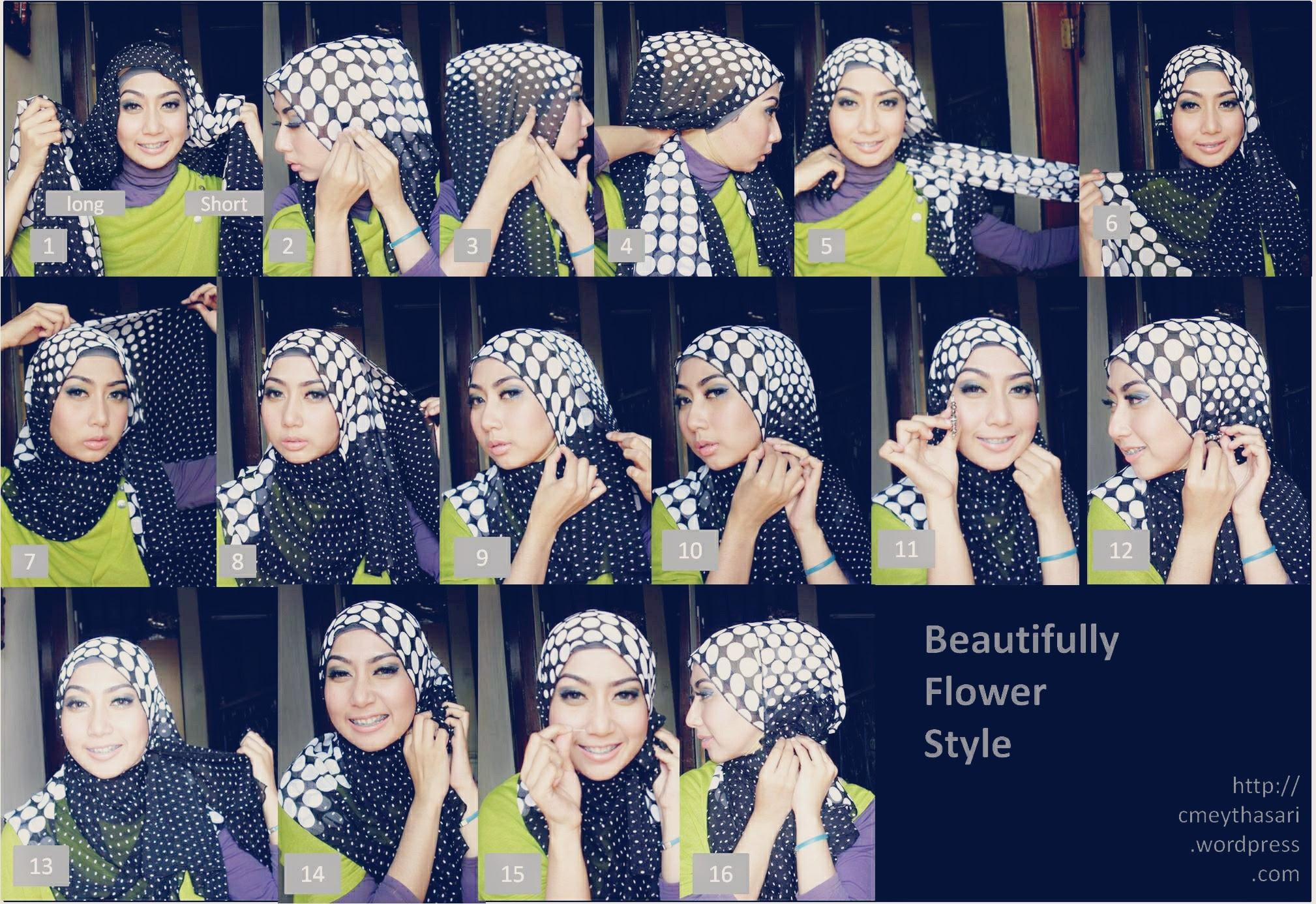 30 Gambar Terupdate Tutorial Hijab Paris Pipi Tembem Gratis