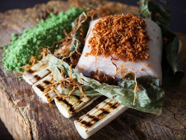"""Pirarucu à moda Banzeiro"" une ingredientes da culinária amazônica (Foto: Arquivo Pessoal/Felipe Schaedler)"