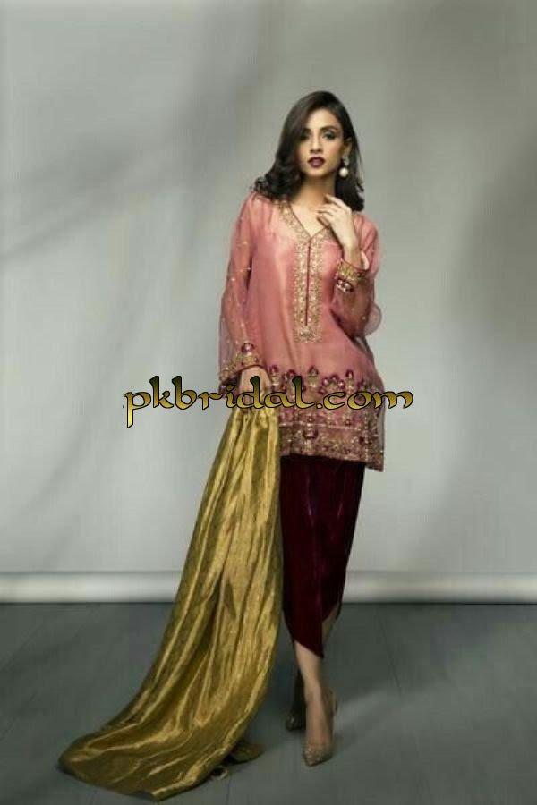 pakistani party wear dresses collection 2018