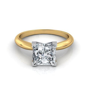 V Prong Princess Cut Engagement Ring Natalie Diamonds