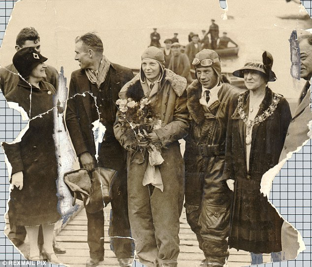 Prisoners: Earhart, pictured arriving in Southampton, is said to have been taken from Mili Atoll by the Japanese, who - in some accounts - executed Noonan before she died of dysentery on Saipan