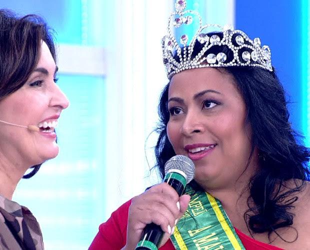 Ju Salazar é exemplo de autoestima (Foto: TV Globo)