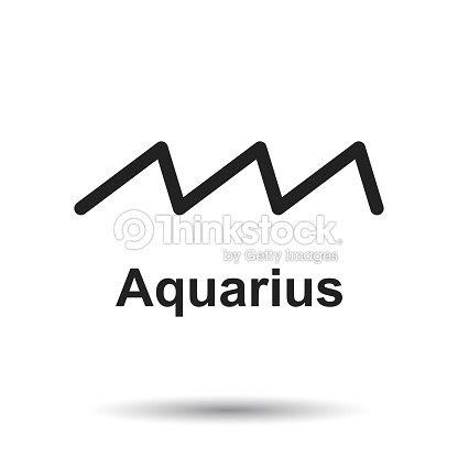 水瓶座の星座白い背景の上フラット占星術ベクトル イラスト ベクトル
