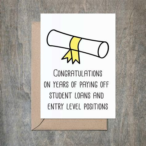 Pay Bills Graduation Card   crimsonandclover