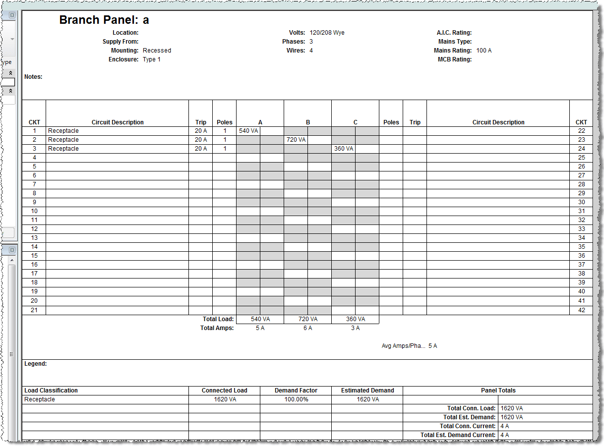 16 Info 42 Circuit Panel Schedule Template