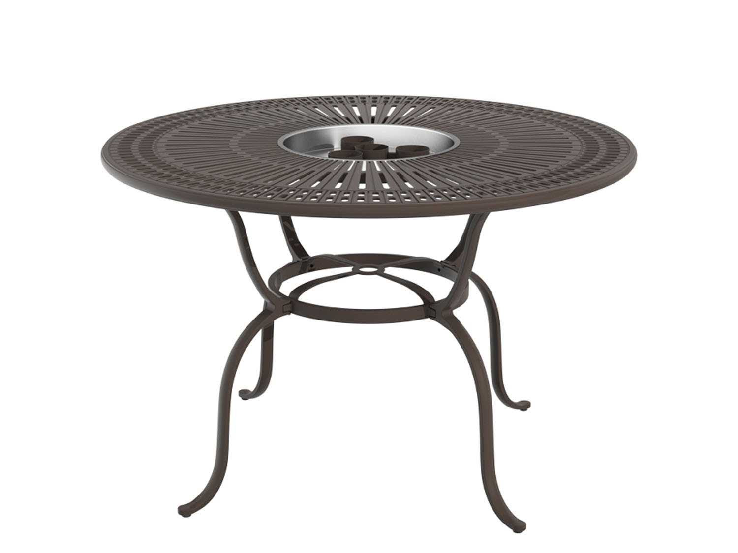 Tropitone Sectrum 55 Round Counter Height Fire Pit Table ...