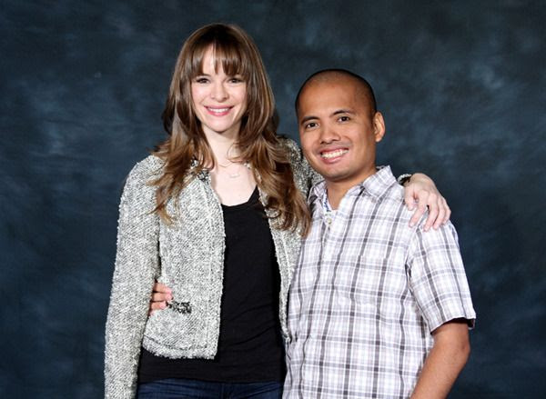 Posing with Danielle Panabaker at Stan Lee's Comikaze Expo in downtown Los Angeles, on October 31, 2015.