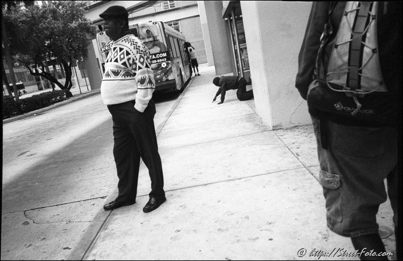 Downtown Miami, 2010. Street Photography by Emir Shabashvili, see http://street-foto.com, Stairs, Sky, Man, Black, http://miamistreetphoto.com, http://miamistreetphotography.com or http://miamistreetphotographer.com