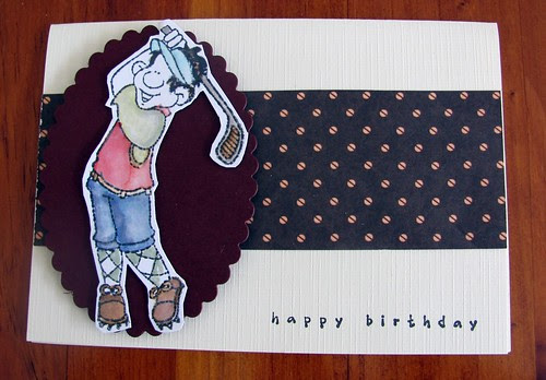 Golfer Birthday card