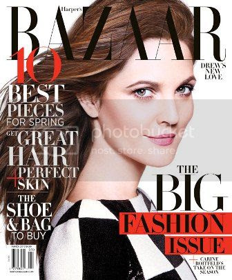 Drew Barrymore Harper's Bazaar March 2013