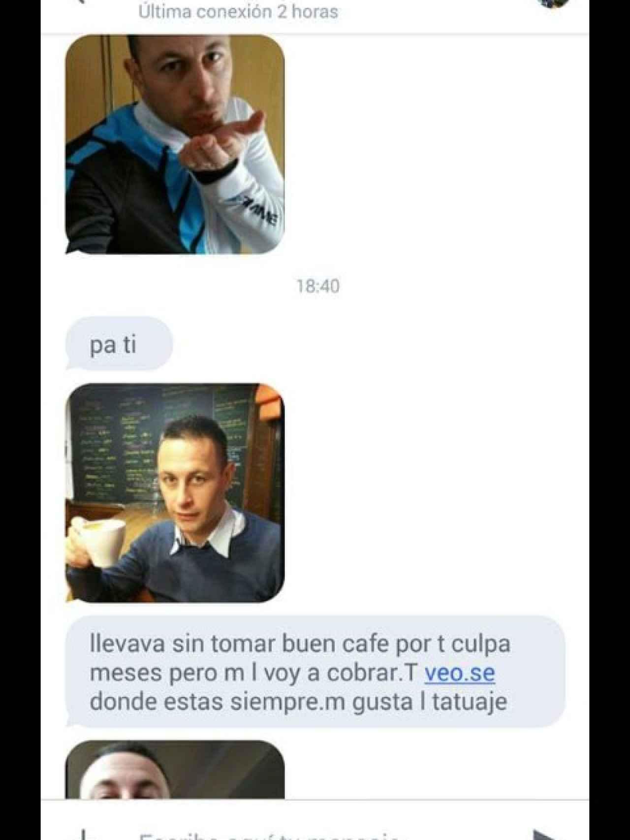 Más amenazas telefónicas de Iván a su exnovia, esta vez adjuntando fotos suyas.