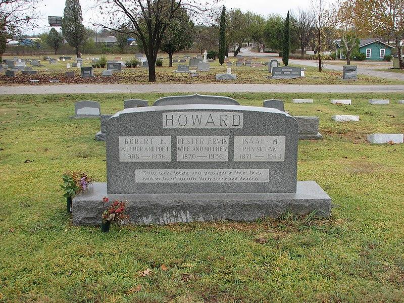 File:Robert E Howard family headstone.jpg
