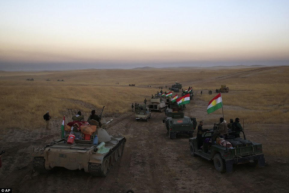 The Iraqi military and the Kurdish forces say they have began operations to recapture the city from the south and the east